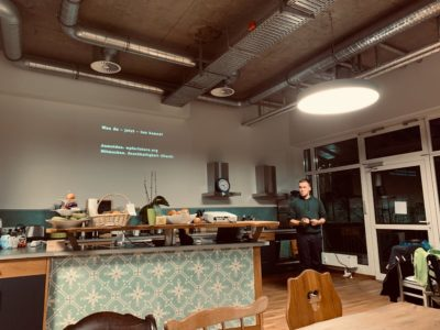 Simon Kraft beim WordPress For Future Meetup im Februar 2020